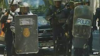 Spanish riot police