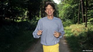 Mick Jagger running