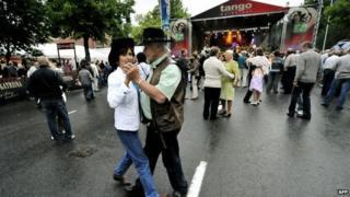 Dancers at the Seinajoki tango festival