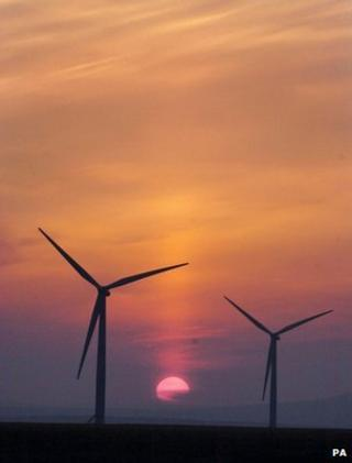 Wind turbines (Image: PA)