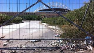 Locked Olympic venue