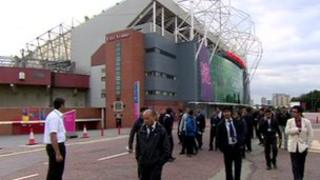 Protest by security staff at Old Trafford