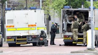 Army bomb experts are at the scene of a security alert in Belfast city centre.