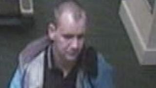 Wanted man CCTV