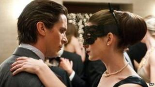 Christian Bale and Anne Hathaway in The Dark Knight Returns