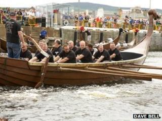 Viking longboat races