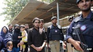 Hewad and Miriyam outside the court in Peshawar