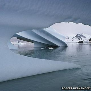 Ice in sea around Antarctica