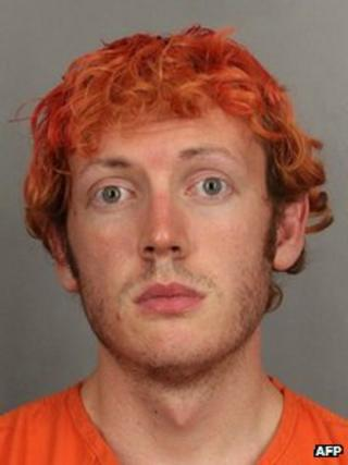 Handout booking photo released by the Arapahoe County Sheriff's Office shows alleged Aurora movie theatre shooter James Holmes 23 July 2012