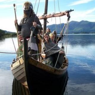 Vikings in longboat