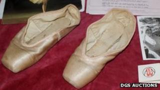 Dame Margot Fonteyn's ballet shoes