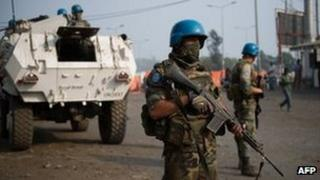 UN troops in Goma (13 July 2012)