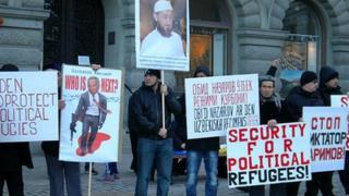Uzbek protesters in Sweden