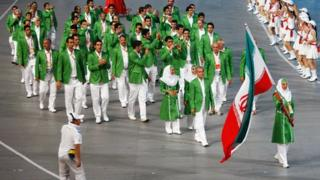 Iran Olympic team at Beijing in 2008