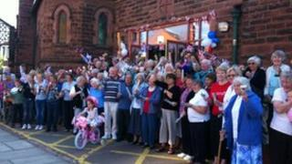 Bell ringers in West Kirby