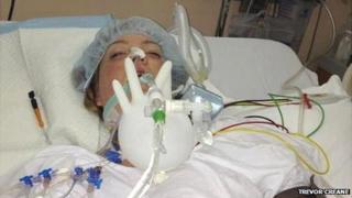 Natalie Creane in hospital