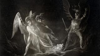 John Martin image from a very rare 1827 edition of Paradise Lost by John Milton
