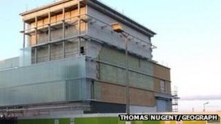 Beacon Arts Centre in Greenock under construction