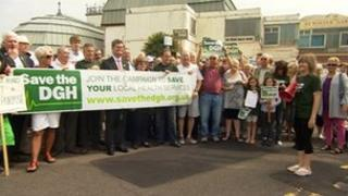 Save The DGH campaigners