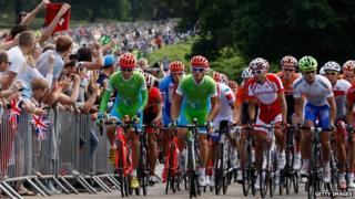 Men's road race at the London Olympics.
