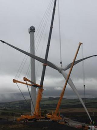 Construction of wind turbines