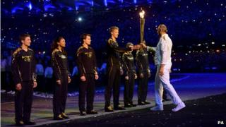 Callum Airlie (pictured left) along with six other young athletes and Olympian Sir Steve Redgrave