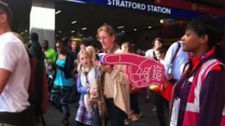Stratford station on Monday morning