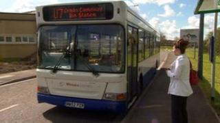 U7 bus stopping in Bradley Stoke