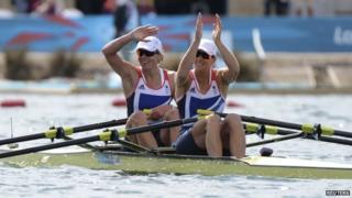 British rowers Anna Watkins and Kath Grainger