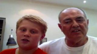 Joe and Tony Thompson talking to BBC Points West via Skype