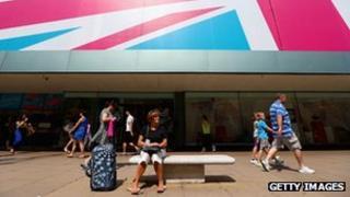 Shoppers on London's Oxford Street last week