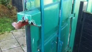 Copdock & Washbrook Bowls Club's equipment container