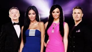 The X Factor 2012 judges: Louis, Nicole, Tulisa and Gary.