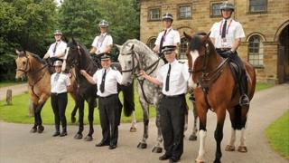 Cleveland Police horses and officers