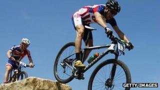 Mountain biking at Hadleigh Farm