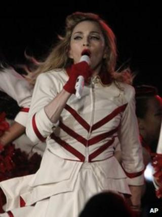 Madonna performs in Vienna, 29 July 2012