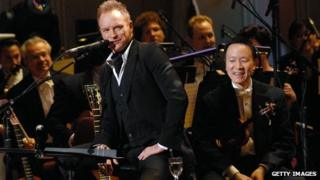 Sting performs with The Philadelphia Orchestra