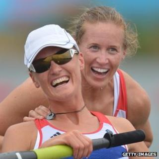 Helen Glover (right) and Heather Stanning.Pic: AFP/Getty