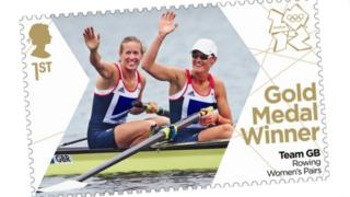 A Royal Mail Olympic stamp