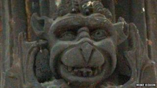 Demon sculpture at St Clement, Outwell