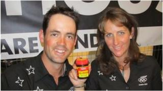 Jock Paget and Caroline Powell admire their black gold at Kiwi House