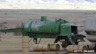 Suspected Iraqi chemical weapons laboratory in 2003