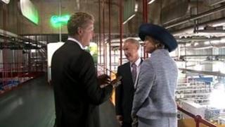 HRH Princess Benedikte with the Chairman of Carlsberg Benet Slay