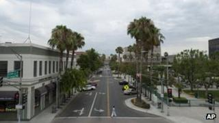 Street in San Bernardino, California 1 August 2012