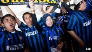 Indonesian fans welcome Inter Milan