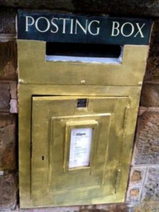 Gold posting box