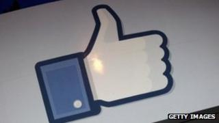 The Facebook 'like' icon