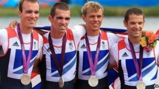 Chris Bartley (right) with his silver medal