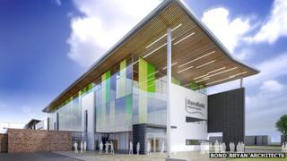 Artist impression for new Barnfield College in Luton