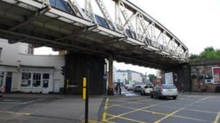 Railway bridge across High Street, Leamington